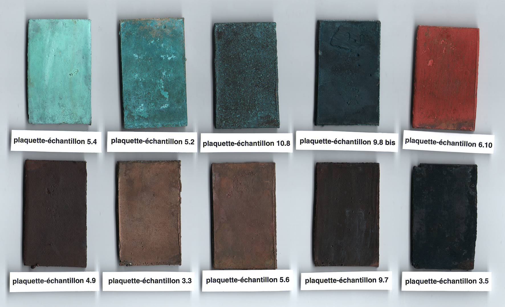 The Colour Palette of Antique Bronzes: An Experimental