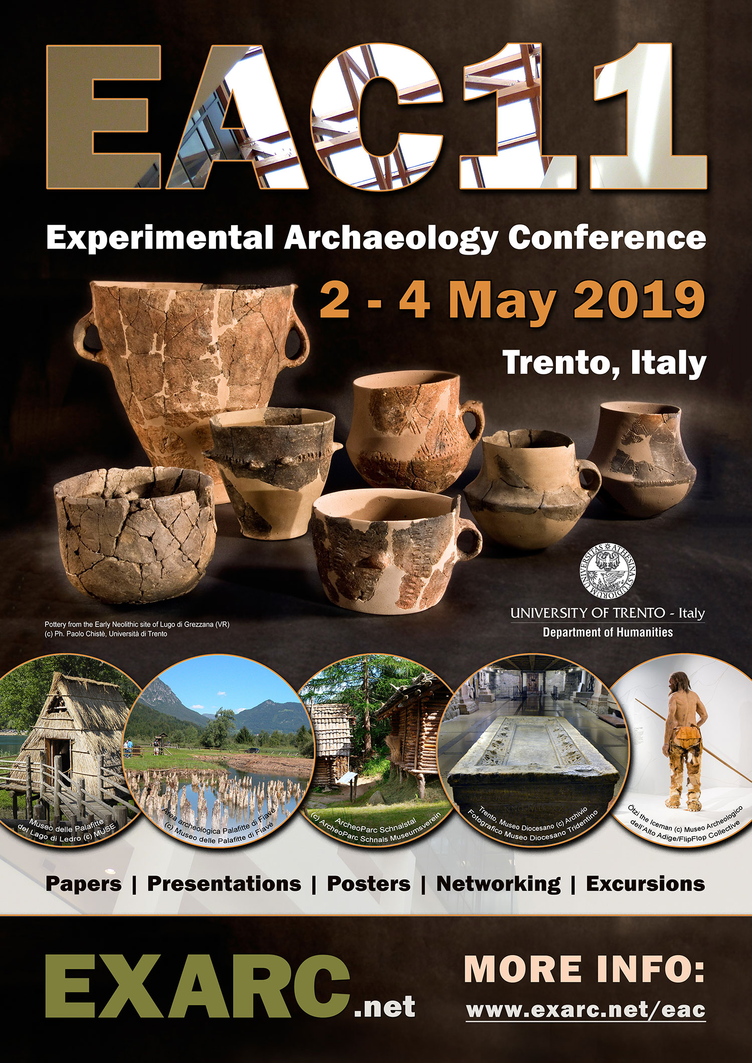 EAC11 Conference Poster Experimental Archaeology Conference EXARC Trento 2019