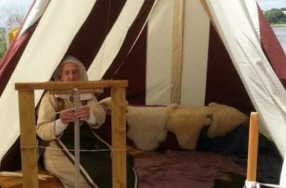 Viking textile and craft demonstration
